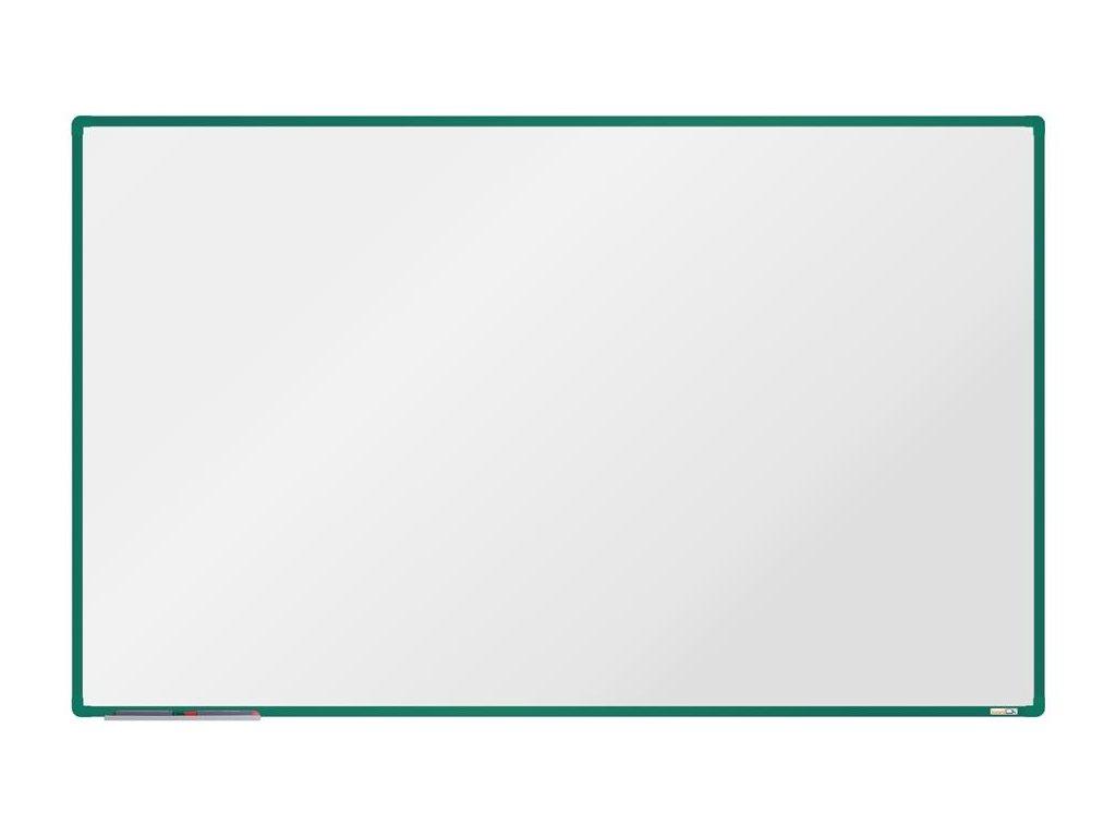 BoardOK, biela magnetická tabuľa 200x120 cm, zelený rám