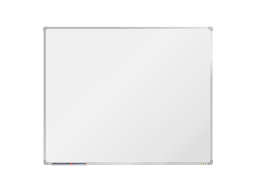 BoardOK, biela magnetická tabuľa s keramickým povrchom, 150x120 cm, strieborný rám