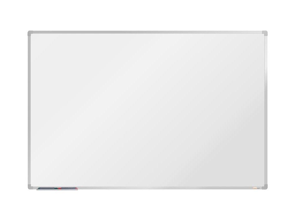 BoardOK, biela magnetická tabuľa s keramickým povrchom, 180x120 cm, strieborný rám