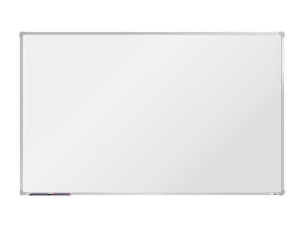 BoardOK, biela magnetická tabuľa s keramickým povrchom, 200x120 cm, strieborný rám