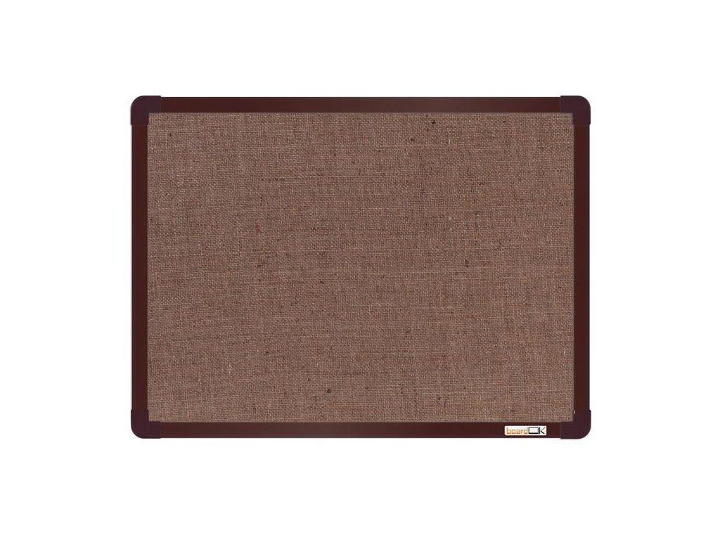 BoardOK, nástenka s textilným povrchom, 60x45 cm, hnedý rám