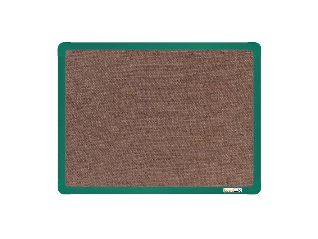BoardOK, nástenka s textilným povrchom, 60x45 cm, zelený rám