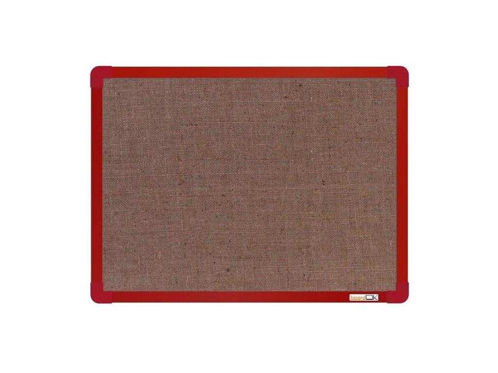 BoardOK, nástenka s textilným povrchom, 60x45 cm, červený rám