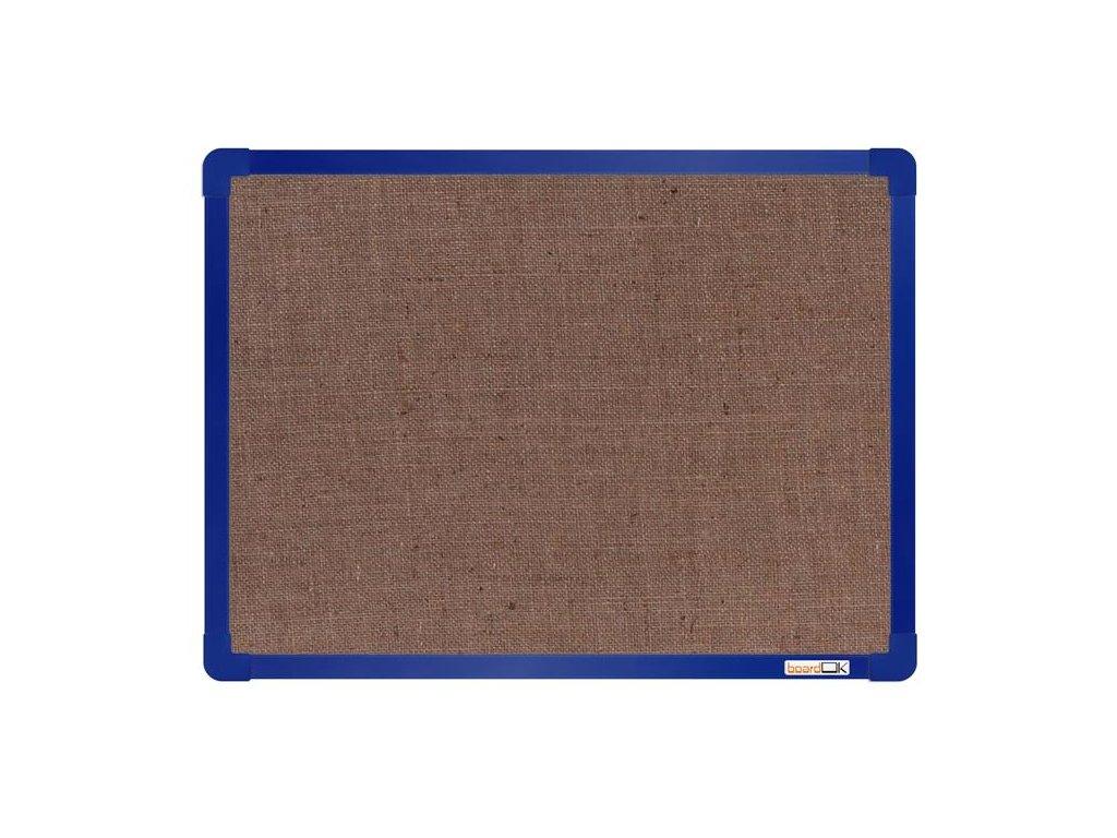 BoardOK, nástenka s textilným povrchom, 60x45 cm, modrý rám