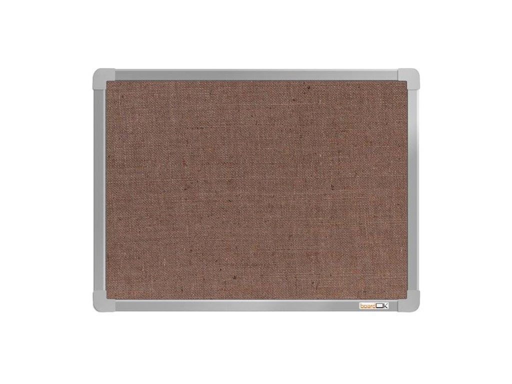BoardOK, nástenka s textilným povrchom, 60x45 cm, strieborný rám