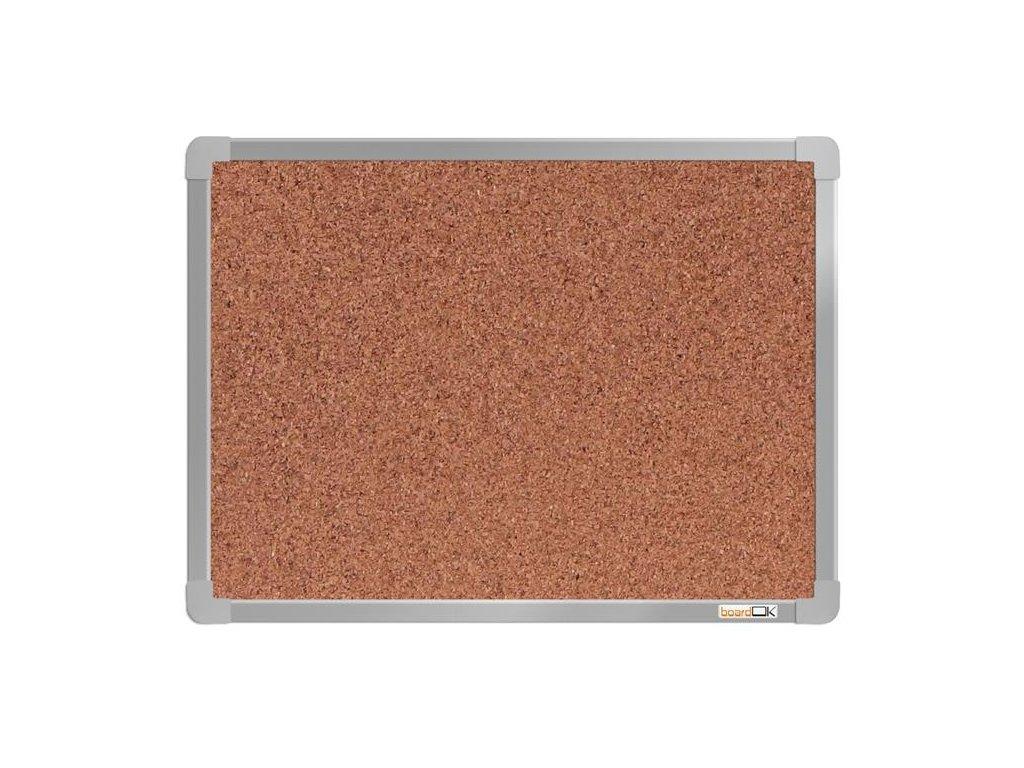 BoardOK, korková nástenka 60x45 cm, strieborný rám