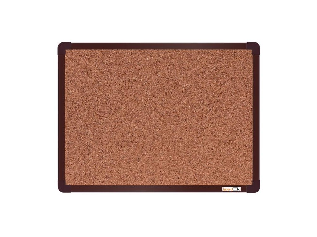 BoardOK, korková nástenka 60x45 cm, hnedý rám