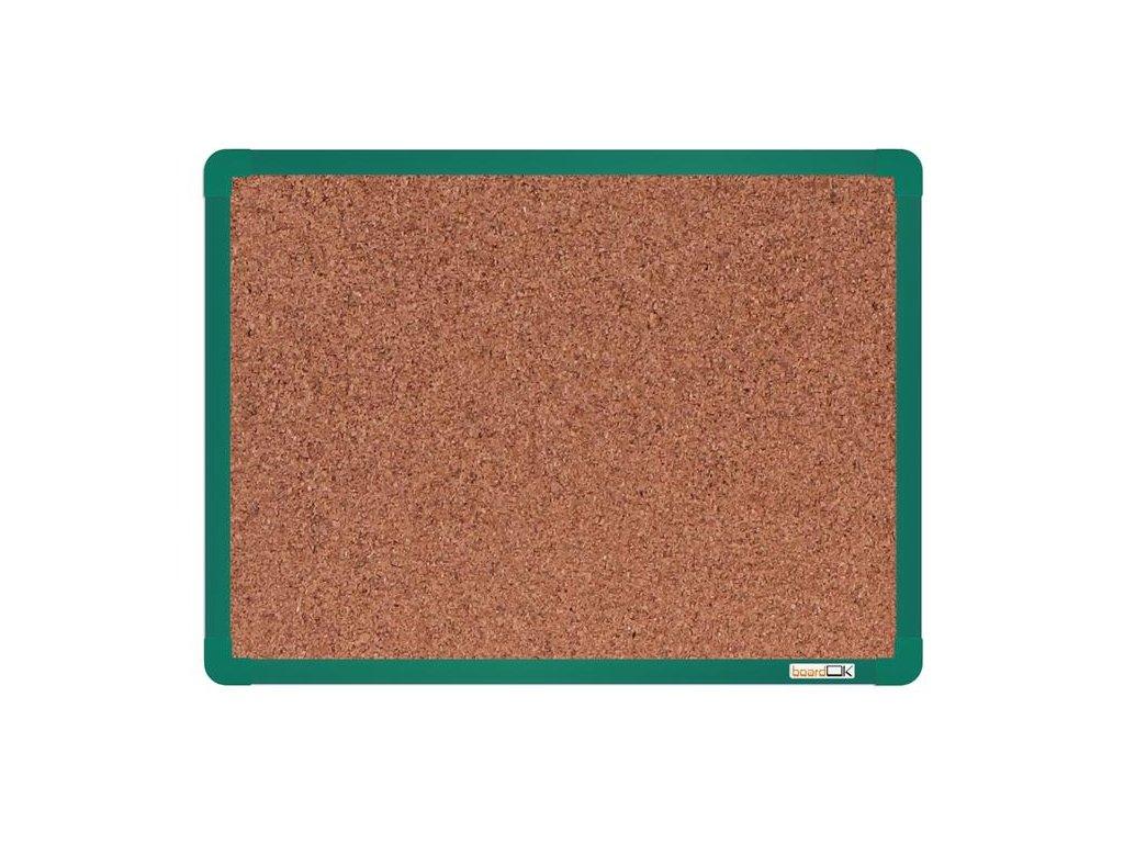 BoardOK, korková nástenka 60x45 cm, zelený rám