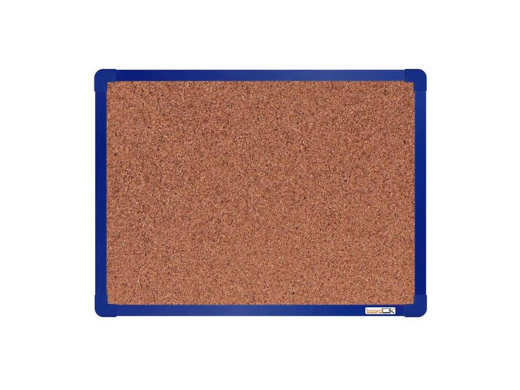 BoardOK, korková nástenka 60x45 cm, modrý rám