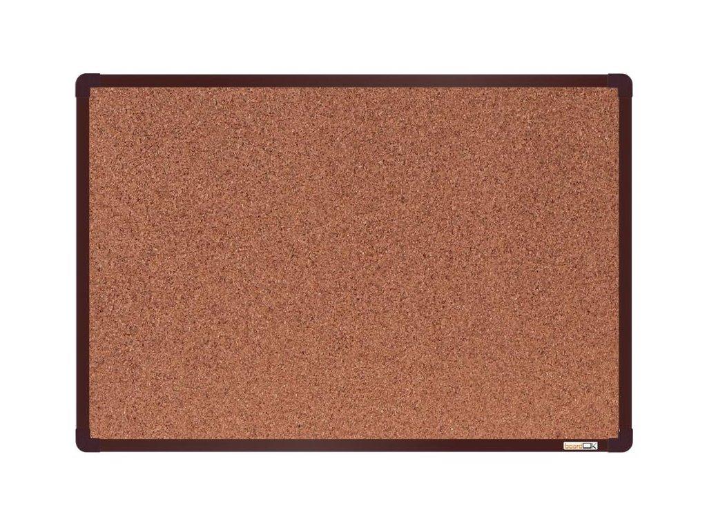 BoardOK, korková nástenka 60x90 cm, hnedý rám