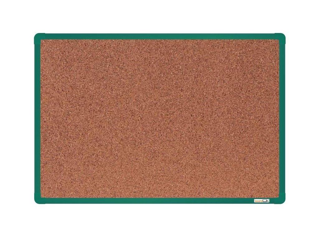 BoardOK, korková nástenka 60x90 cm, zelený rám