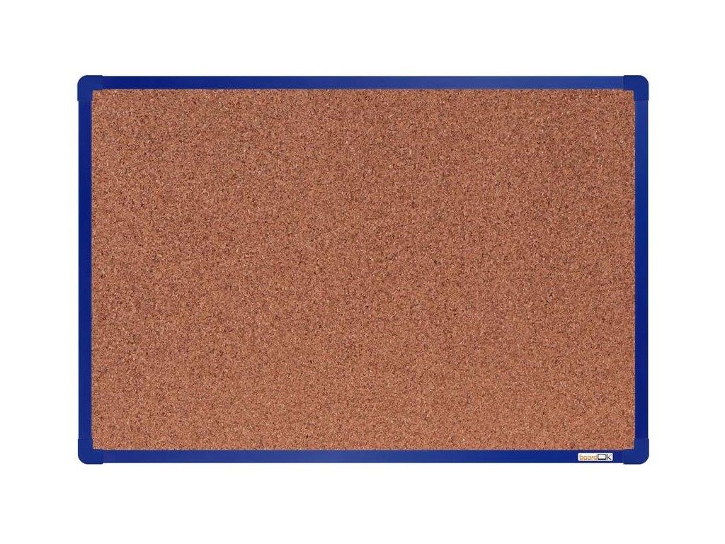 BoardOK, korková nástenka 60x90 cm, modrý rám