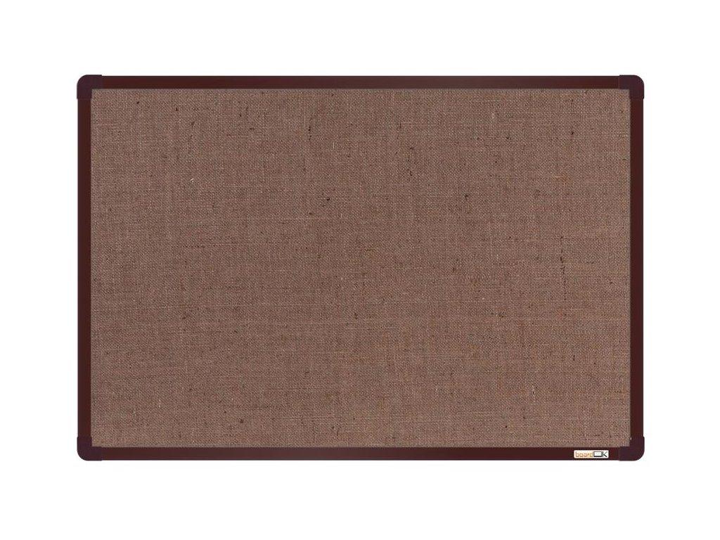 BoardOK, nástenka s textilným povrchom, 60x90 cm, hnedý rám