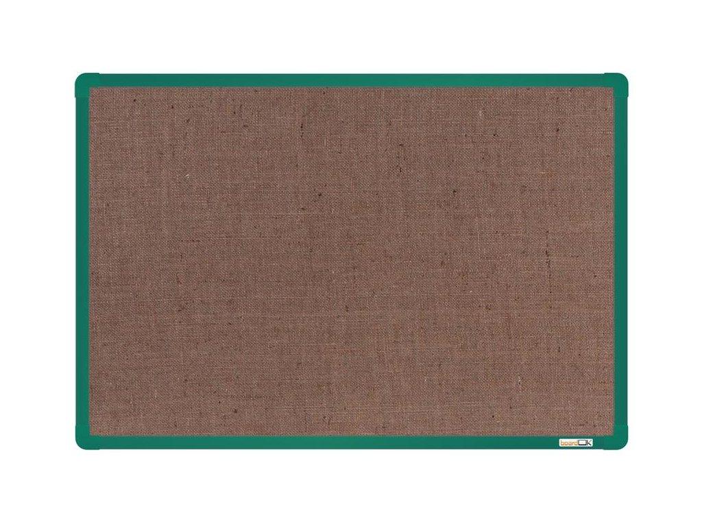 BoardOK, nástenka s textilným povrchom, 60x90 cm, zelený rám
