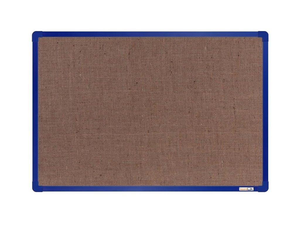 BoardOK, nástenka s textilným povrchom, 60x90 cm, modrý rám