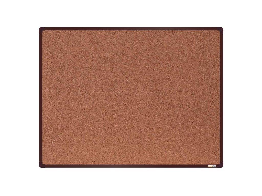 BoardOK, korková nástenka 120x90 cm, hnedý rám