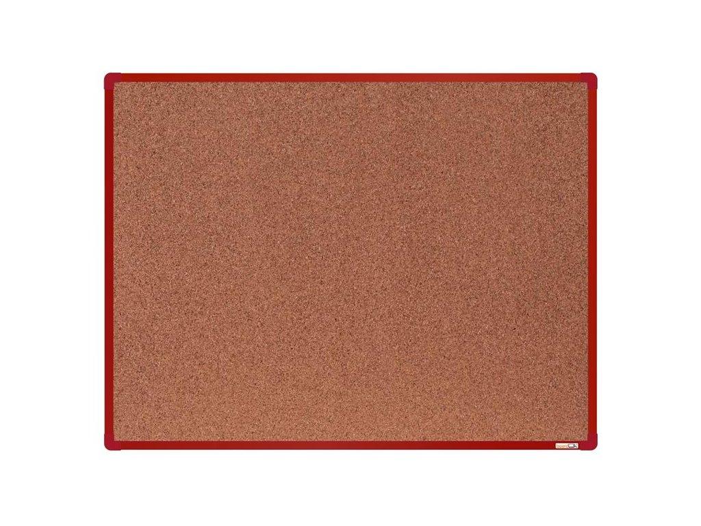BoardOK, korková nástenka 120x90 cm, červený rám