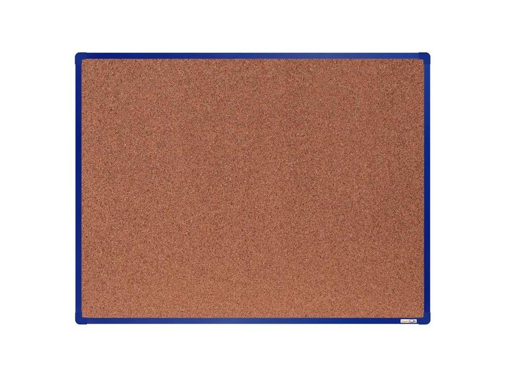BoardOK, korková nástenka 120x90 cm, modrý rám