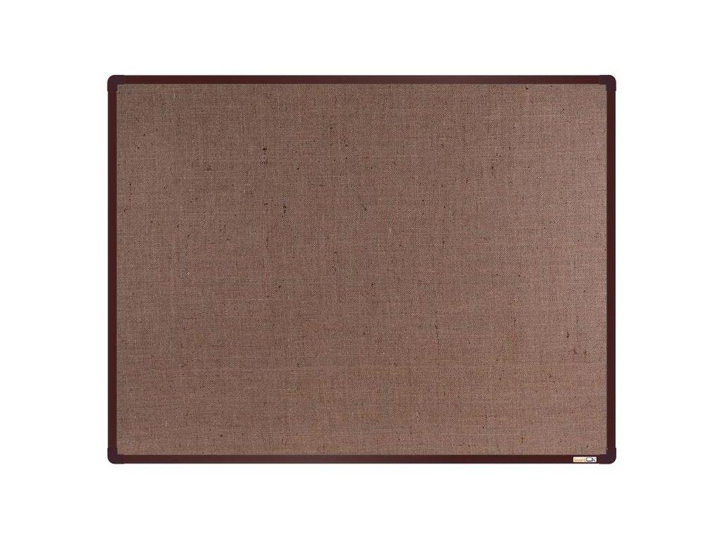 BoardOK, nástenka s textilným povrchom, 120x90 cm, hnedý rám