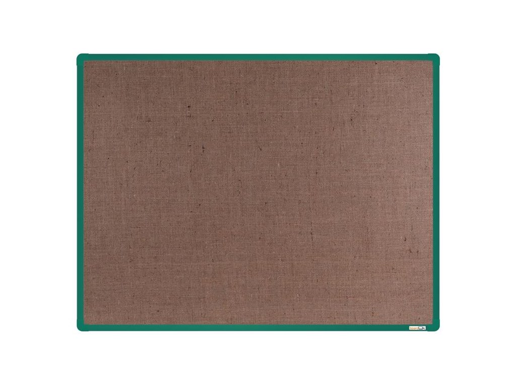 BoardOK, nástenka s textilným povrchom, 120x90 cm, zelený rám