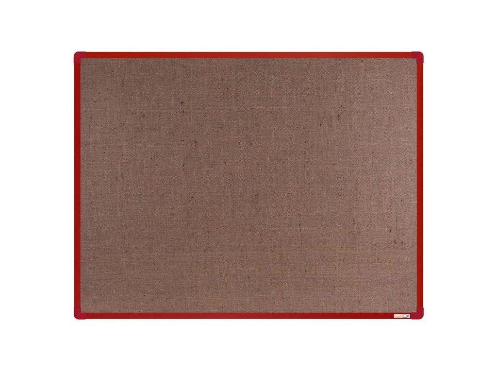 BoardOK, nástenka s textilným povrchom, 120x90 cm, červený rám