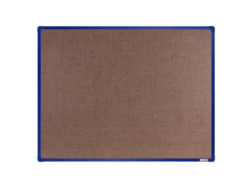 BoardOK, nástenka s textilným povrchom, 120x90 cm, modrý rám