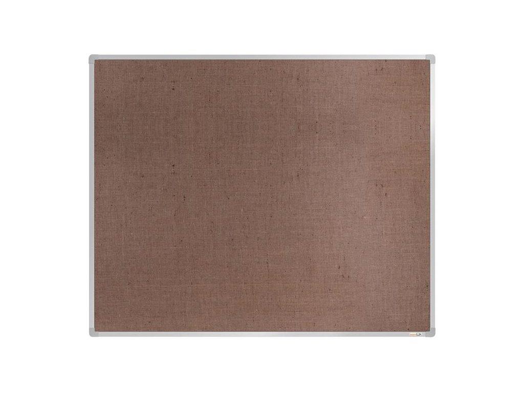 BoardOK, nástenka s textilným povrchom, 150x120 cm, strieborný rám