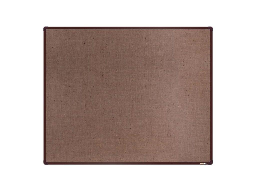 BoardOK, nástenka s textilným povrchom, 150x120 cm, hnedý rám