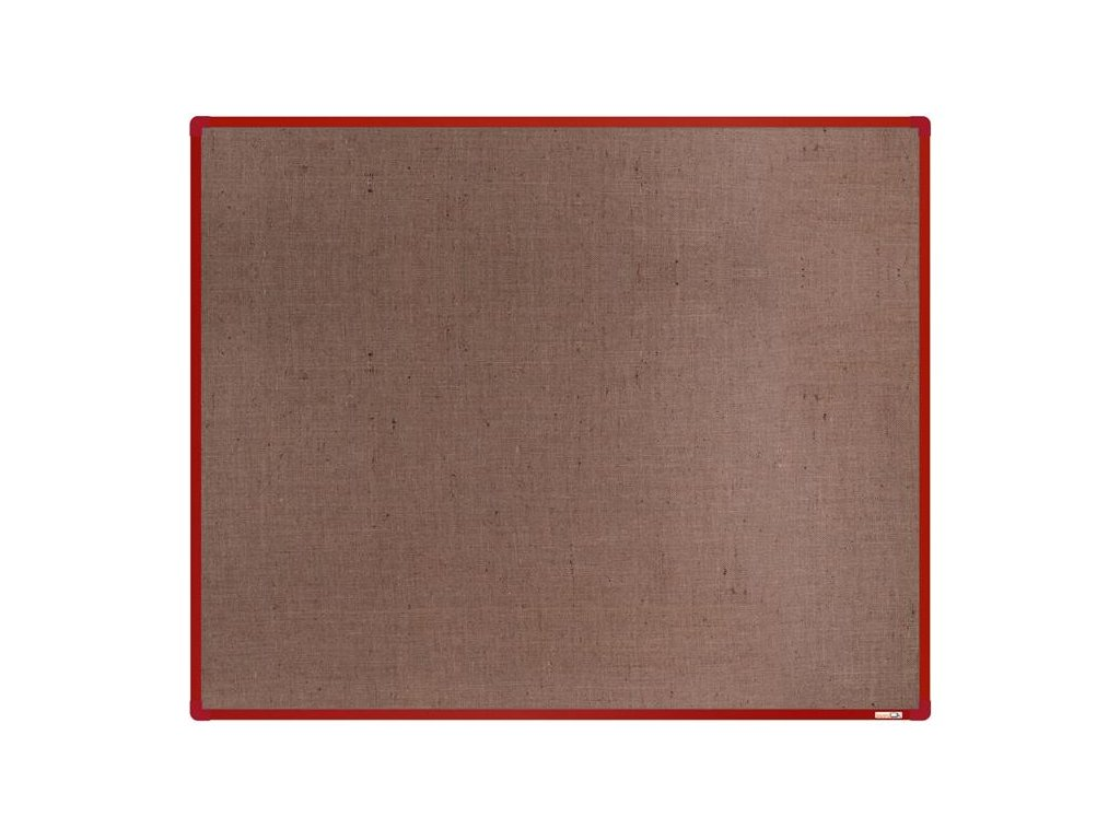 BoardOK, nástenka s textilným povrchom, 150x120 cm, červený rám