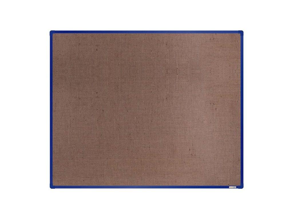 BoardOK, nástenka s textilným povrchom, 150x120 cm, modrý rám