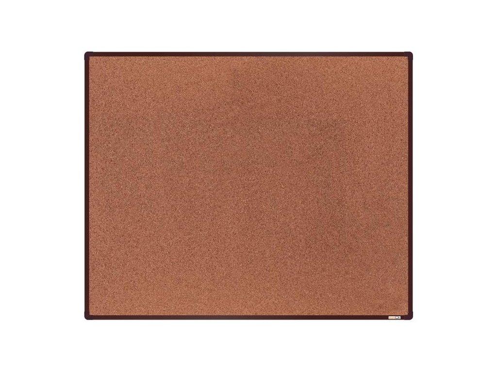 BoardOK, korková nástenka 150x120 cm, hnedý rám
