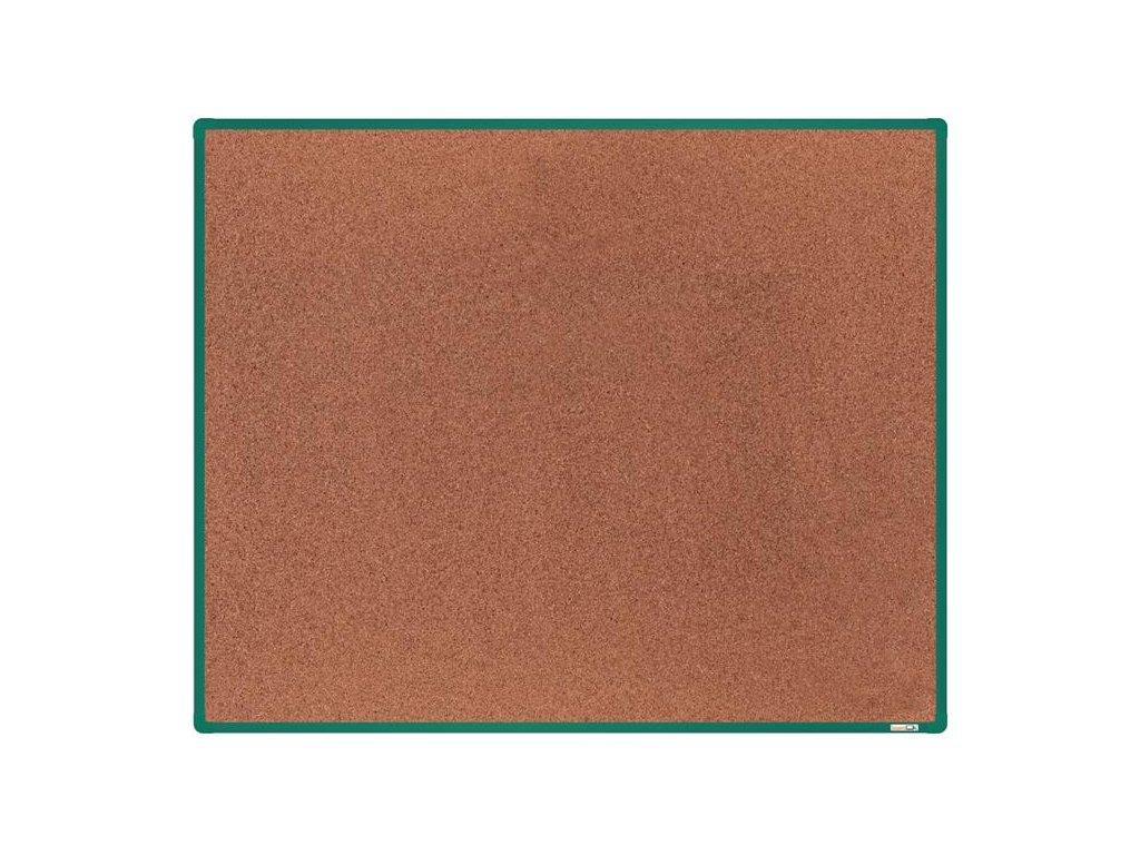 BoardOK, korková nástenka 150x120 cm, zelený rám