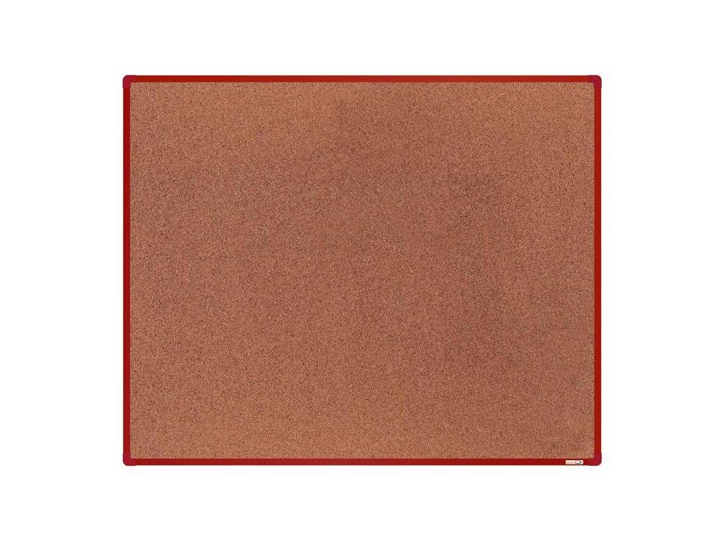 BoardOK, korková nástenka 150x120 cm, červený rám