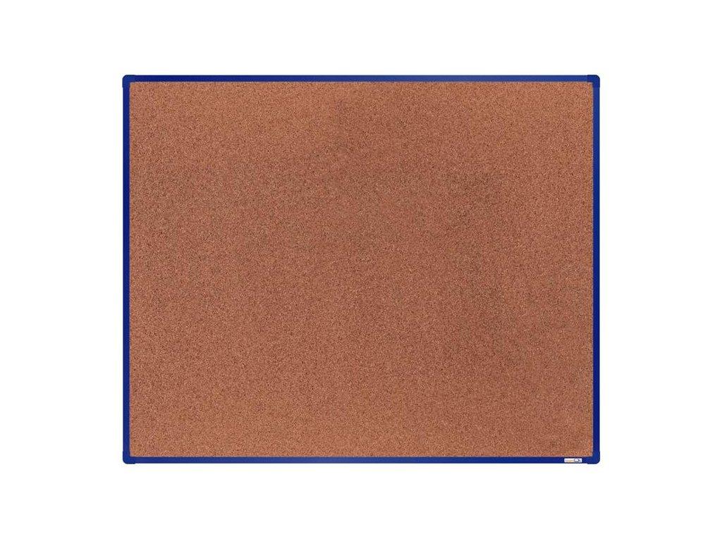 BoardOK, korková nástenka 150x120 cm, modrý rám