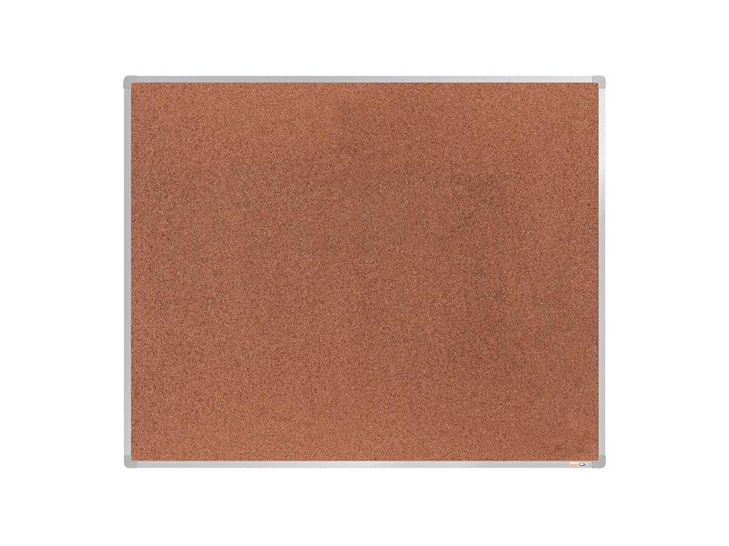 BoardOK, korková nástenka 150x120 cm, strieborný rám