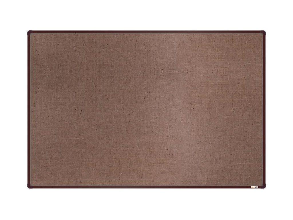 BoardOK, nástenka s textilným povrchom, 180x120 cm, hnedý rám