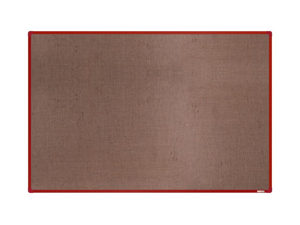 BoardOK, nástenka s textilným povrchom, 180x120 cm, červený rám