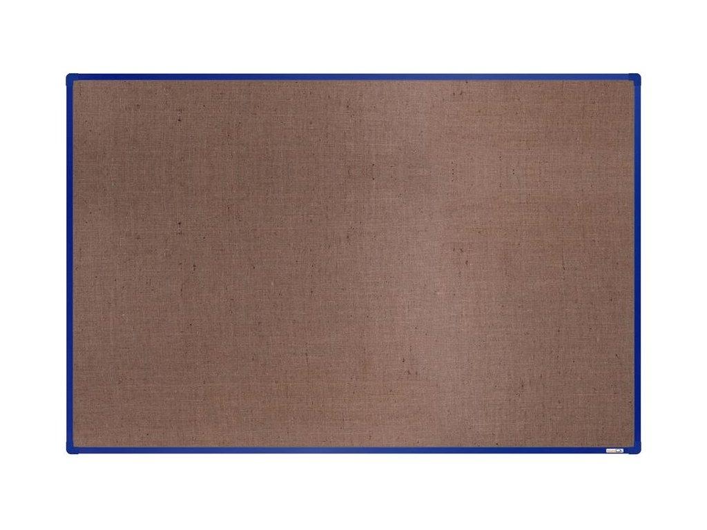BoardOK, nástenka s textilným povrchom, 180x120 cm, modrý rám