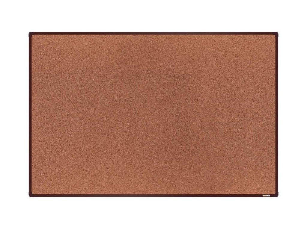 BoardOK, korková nástenka 180x120 cm, hnedý rám