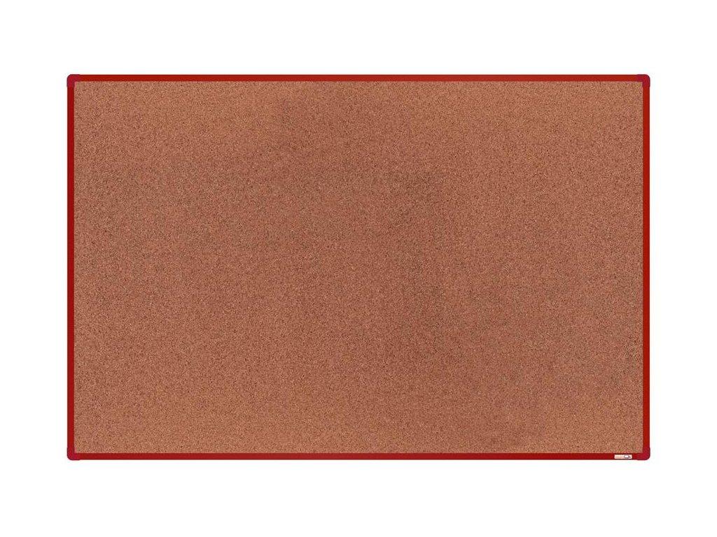 BoardOK, korková nástenka 180x120 cm, červený rám