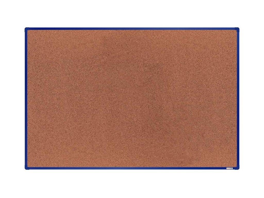 BoardOK, korková nástenka 180x120 cm, modrý rám