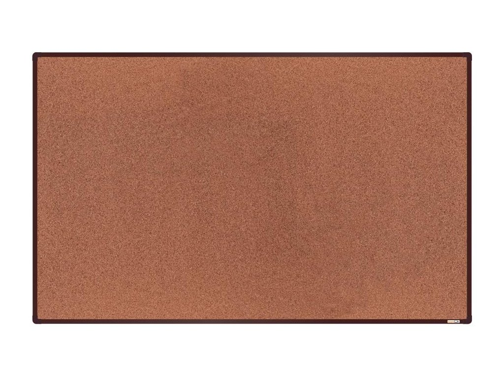 BoardOK, korková nástenka 200x120 cm, hnedý rám