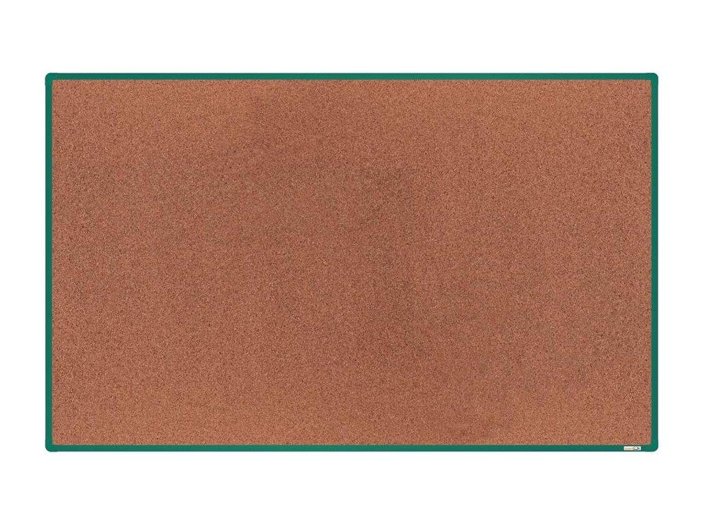 BoardOK, korková nástenka 200x120 cm, zelený rám