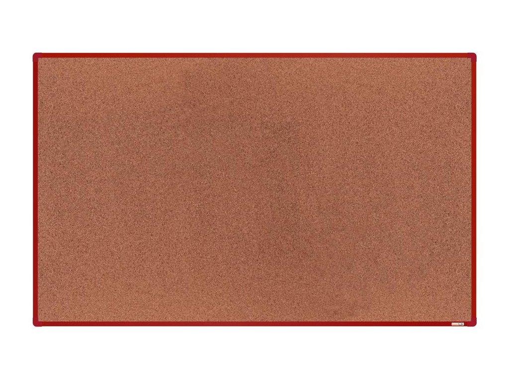 BoardOK, korková nástenka 200x120 cm, červený rám
