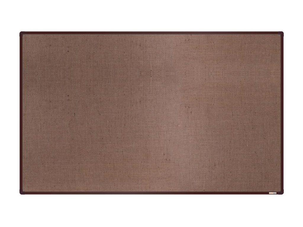BoardOK, nástenka s textilným povrchom, 200x120 cm, hnedý rám