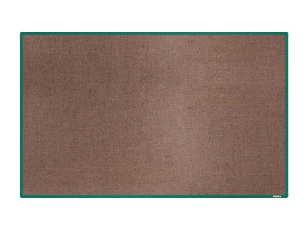 BoardOK, nástenka s textilným povrchom, 200x120 cm, zelený rám