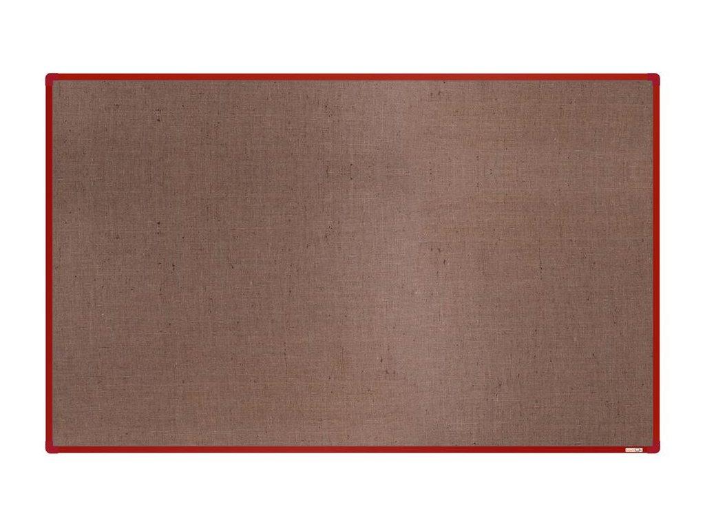 BoardOK, nástenka s textilným povrchom, 200x120 cm, červený rám
