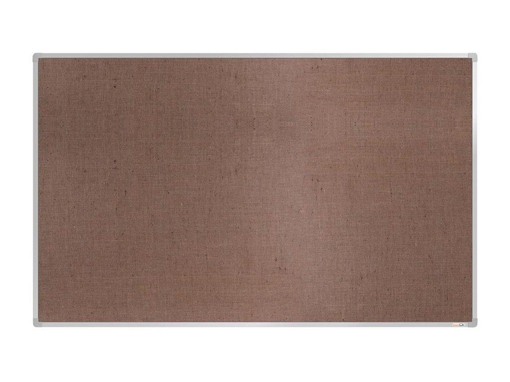 BoardOK, nástenka s textilným povrchom, 200x120 cm, strieborný rám