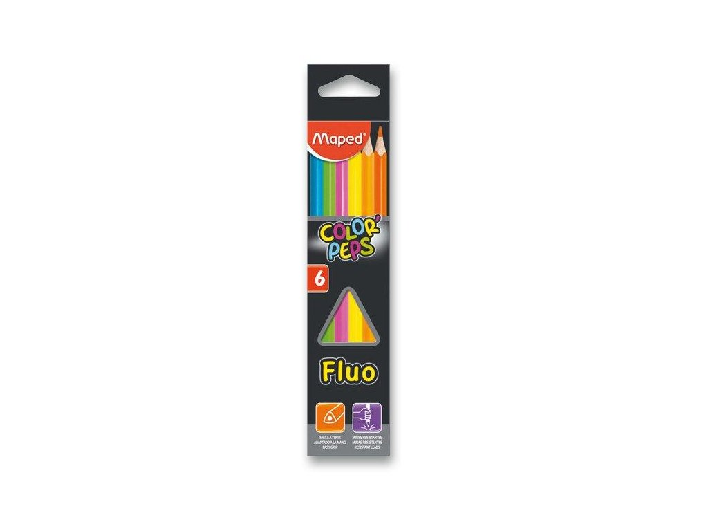 PASTELKY MAPED COLOR'PEPS FLUO - 6 FARIEB