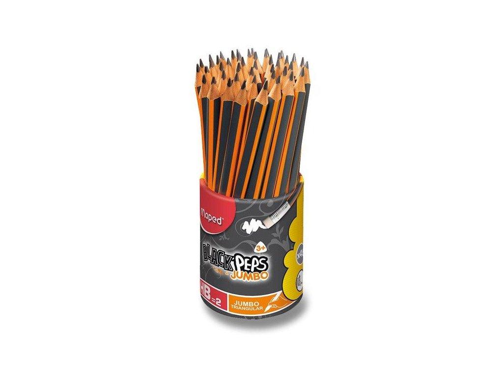 46 x Maped, ceruzka s gumou Jumbo HB, BlackPeps